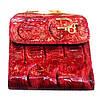 Женские кожаные портмоне 9*8 (бордо)