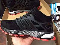 Зимние мужские кроссовки Adidas Neo Winter Black/Red С МЕХОМ