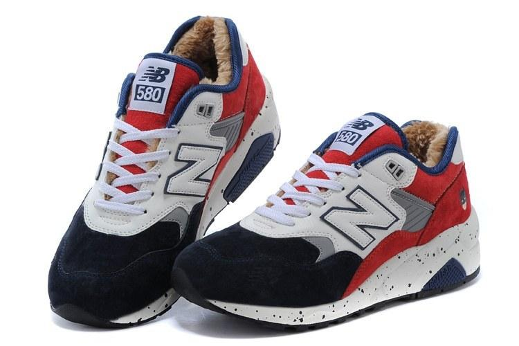 Мужские кроссовки New Balance 580 Winter Blue White Red С МЕХОМ - Интернет- 8c0a6fbde1b