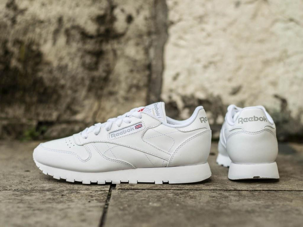 Оригинальные Женские кроссовки Reebok Classic Leather All White(Код: 2232)