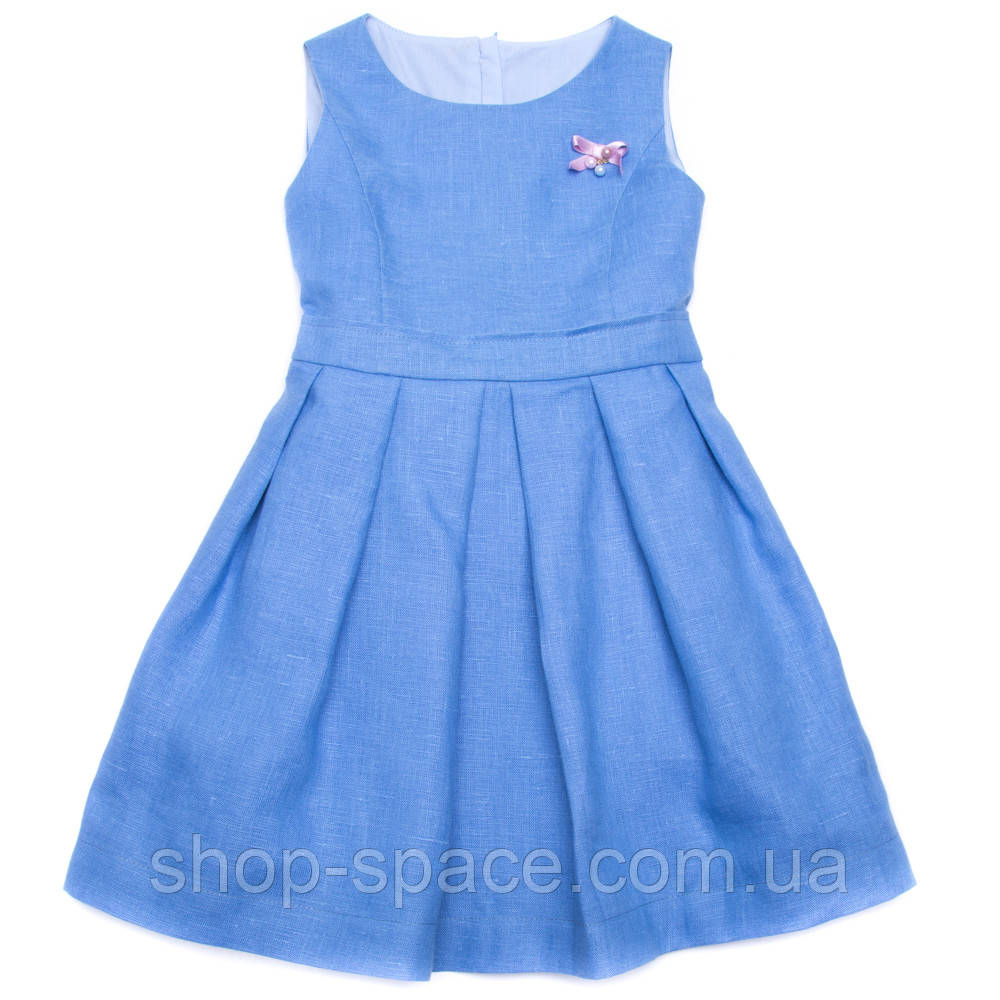 Платье льняное Miracle Me (синее)