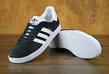 Мужские кроссовки AD Gazelle Black/White . ТОП Реплика ААА класса., фото 2