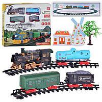 Железная дорога 6299-81/80 на батарейке музыка, свет, дым, 2 вида, в коробке 47х43х5