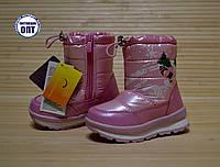 Зимові термо чобітки дутики на дівчинку Tom.m рожеві розміри 27, 28, фото 1