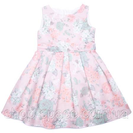 """Платье льняное """"Цветы"""" Miracle Me (розовое)"""