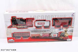 Железная дорога 19038-3 на батарейке музыка, свет, дым,в коробке 61х28х8
