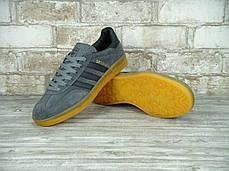 Мужские кроссовки Adidas Gazelle Utility Grey , фото 3