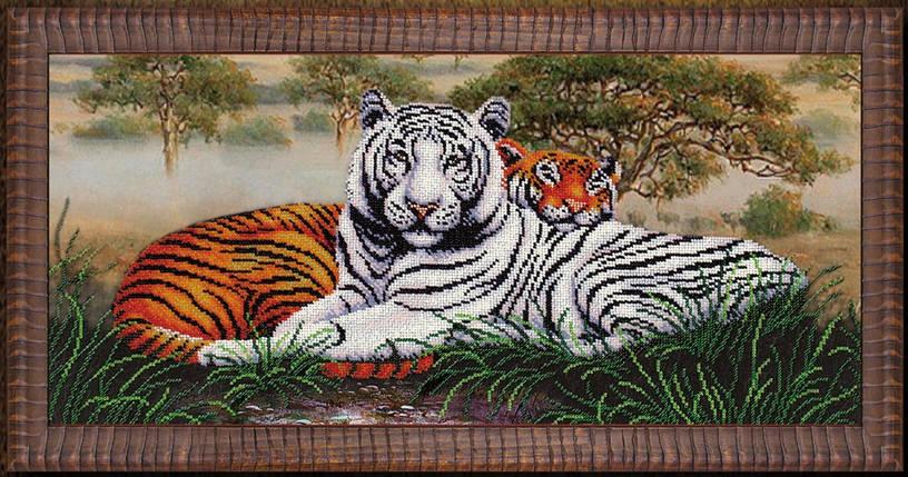 """Набор для вышивания бисером """"Саванна """"Тигры"""", фото 2"""