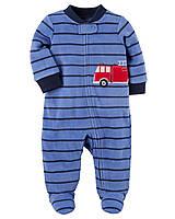 Детский флисовый человечек для мальчика   1, 3, 6 месяцев