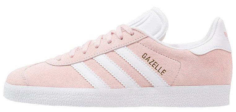 Женские кроссовки AD Gazelle Vapour Pink/White . ТОП Реплика ААА класса.