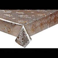 Клеенка на тканевой основе золото/серебро, шелкография. 1,40*20 метров, фото 1