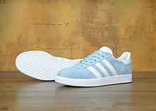 Женские кроссовки Adidas Gazelle Light Blue , фото 2