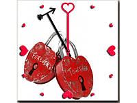 Часы на тему любовь L 0159 ЗАМОЧКИ ЛЮБВИ (68)