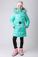 Куртка зимняя для девочки zkd-1,  мята рр 122-152р