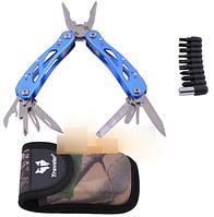 Многофункциональный нож (мультитул) с комплектом бит MT-629 (Синий)