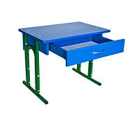 Детский стол регулируемый одноместный с ящиком (117)