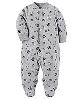 Детский флисовый человечек для мальчика   1, 3, 6, 9 месяцев