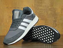 Чоловічі кросівки AD Iniki Runner Boost Grey . ТОП Репліка ААА класу., фото 3