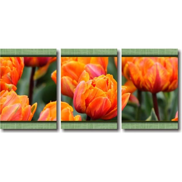 купить модульную картину с тюльпанами в Киеве