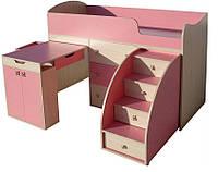 Кровать-чердак со столом МАЛЫШ-1(16)