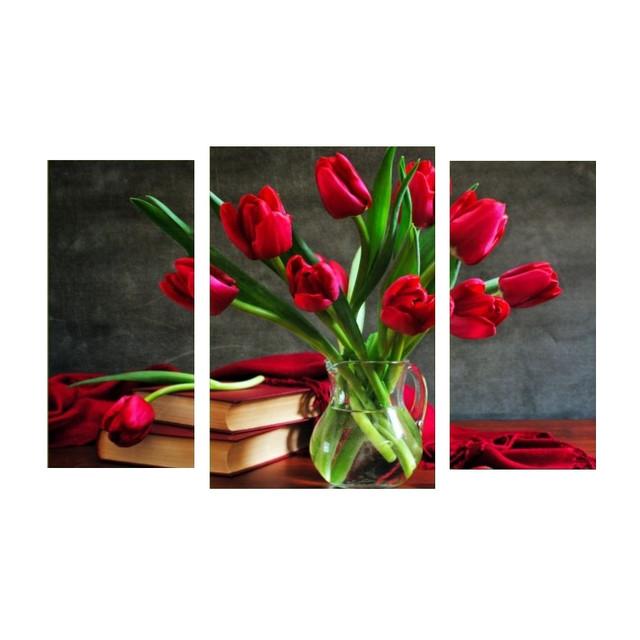 купить модульную картину с тюльпанами в Днепре
