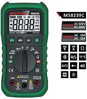 Цифровой мультиметр MS8239C: ACV, DCV, ACA, DCA, R, C, F, t, прозвонка, диодный тест
