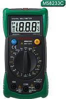 Mastech MS8233C Цифровой мультиметр  ACV, DCV, DCA, R, t, прозвонка, диодный тест, бесконтактное определение