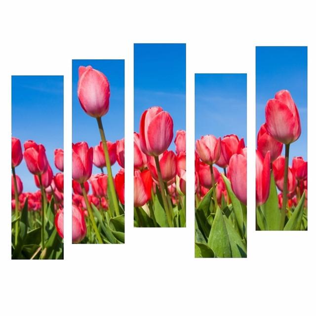 купить модульную картину с тюльпанами в интернете