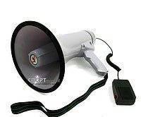 Ручной мегафон рупор громкоговоритель большой HW 20B 30W дальность 300м