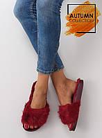 Бордовые женские тапочки dd68 38,37