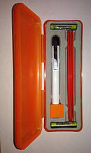 Диагностический медицинский фонарик с держателем для шпателей и набором пластиковых шпателей OT02