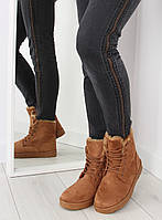 Коричневые женские ботинки DD65P 36