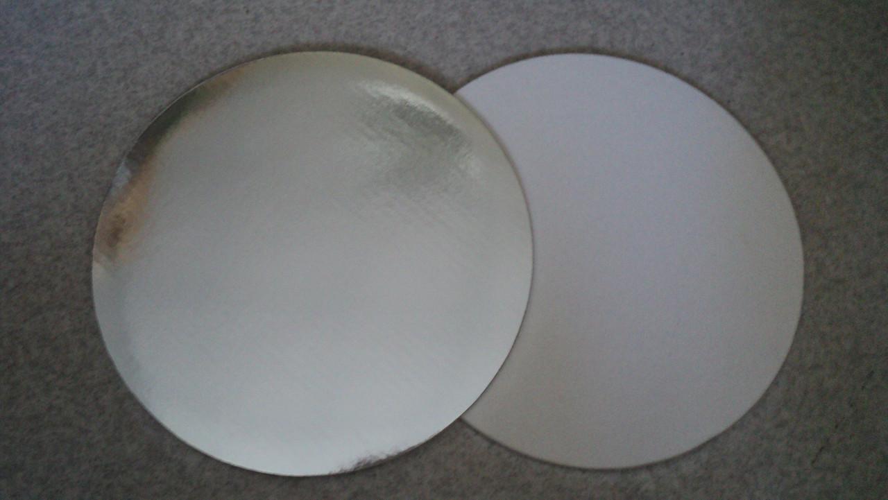 Подложка усиленная  круг серебро d30 (код 01552)