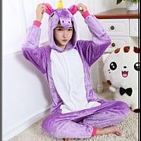 Кигуруми Единорог Фиолетовый (детский и взрослый)