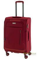 Дорожный чемодан на 4-х колесах (средний) March Rolling красного цвета