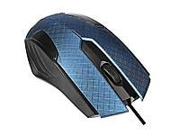 Проводная игровая  мышь USB  Mallom  Синий