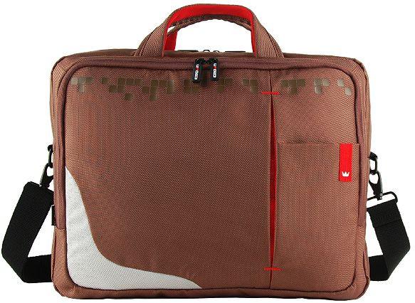 Сумка для ноутбука 15,6 дюймов Crown Genuine коричневая