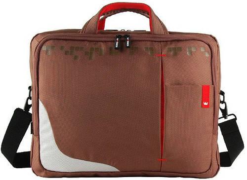 """Многофункциональная сумка для ноутбука до 15,6"""" Crown Genuine CCG4415BN коричневая"""