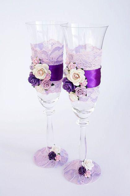 Свадебные бокалы ручной работы Сумы