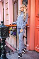 Свободный женский костюм (кофта и штаны) из трикотажа с ангорой в расцветках 31SP75