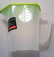 Мерный стакан пищевой пласт с крышкой  1л