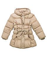Бежевое теплое пальто для девочки итальянской фирмы Byblos