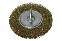 Щітка-крацовка кругла, латунна, 100мм 18-102