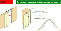 Петли для сдвижных дверей компланарного открывания FAD-44 (Япония)