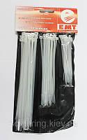 Набор стяжек (хомутов) белого цвета 80 шт.