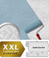 Обои в стиле барокко EDEM 83001BR60 флизелиновые обои под покраску рельефные с орнаментом матовые белые 26,50 м2