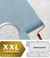 Обои в стиле барокко EDEM 83004BR60 флизелиновые обои под покраску рельефные с орнаментом матовые белые 26,50 м2