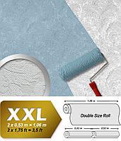 Обои с флоральными мотивами EDEM 83006BR60 флизелиновые обои под покраску рельефные с орнаментом матовые белые 26,50 м2