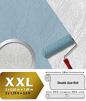 Обои в стиле барокко EDEM 83007BR60 флизелиновые обои под покраску рельефные с орнаментом матовые белые 26,50 м2