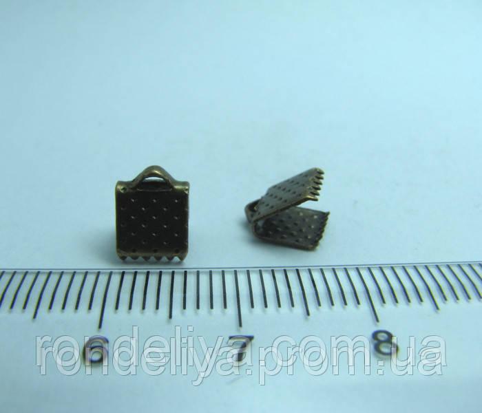 Зажим для лент 5 мм медь